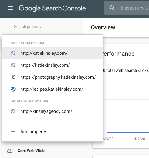 Add a Property to Google Search Console