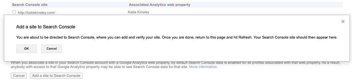 Add a Site to Google Search Console