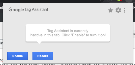 Enable Google Tag Assistant