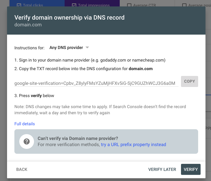 Verify Your Domain in Google Search Console