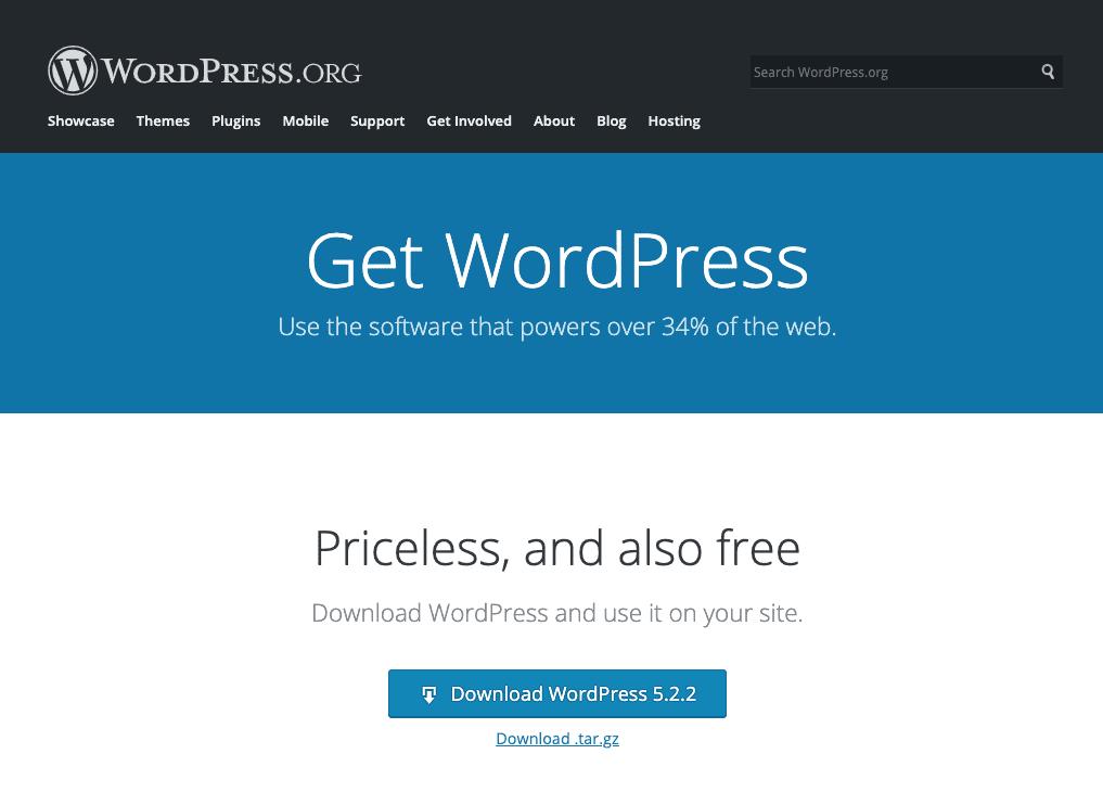 Download Wordpress Setup Files
