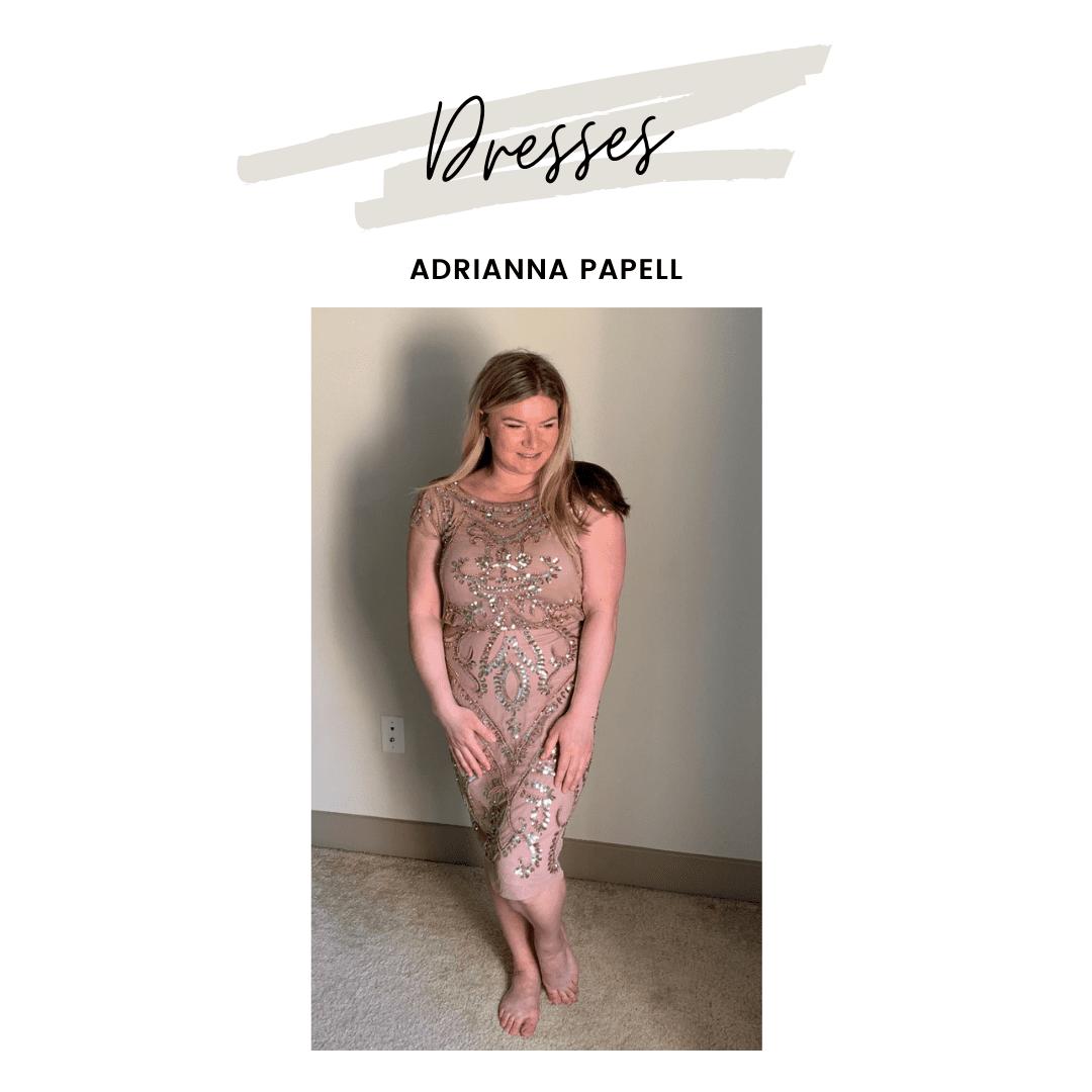 Adrianna Papell Beaded Blouson Sheath Dress on Amazon