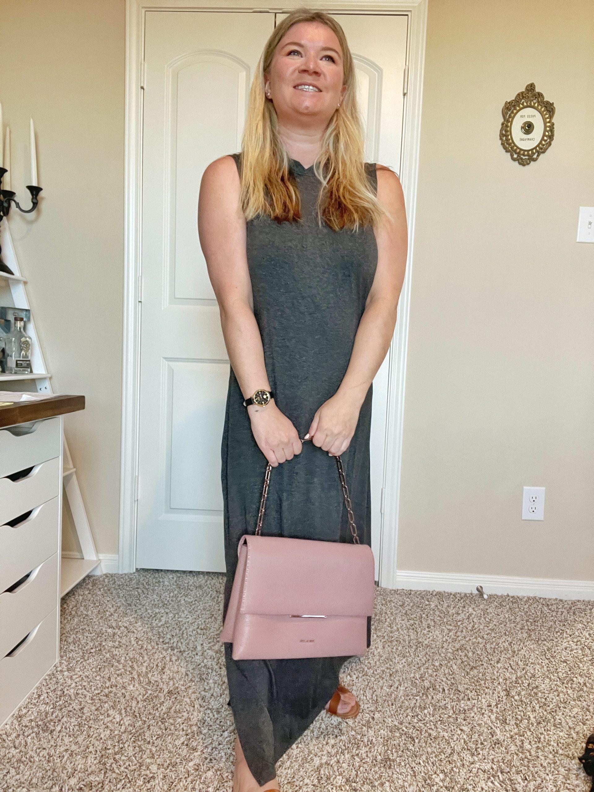 Daily Ritual Women's Jersey Standard-Fit Mock-Neck Maxi Dress