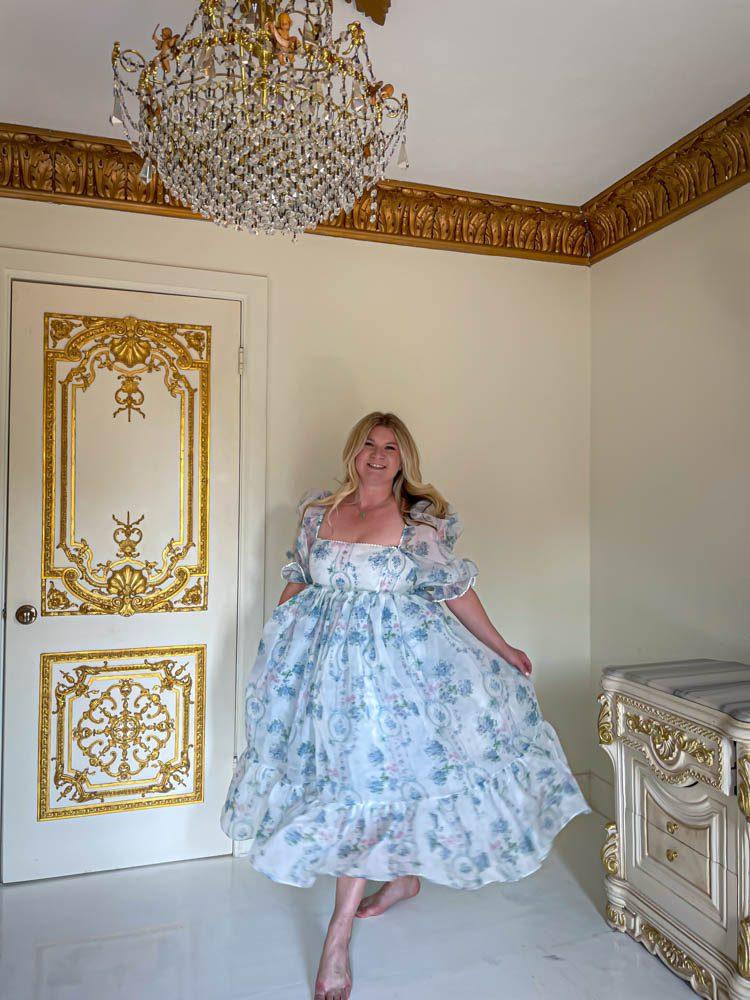 Dallas Dreamhaus white interior Katie Kinsley Selkie Puff Sleeve Dress