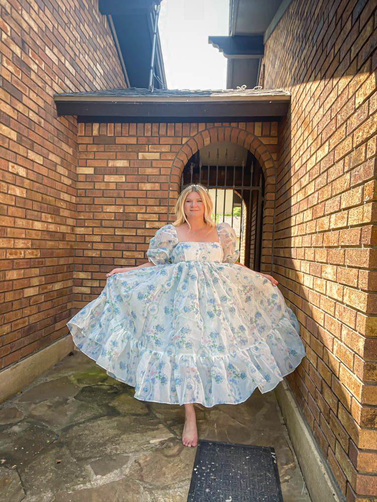 Dallas Dreamhaus brick full Katie Kinsley Selkie Puff Sleeve Dress