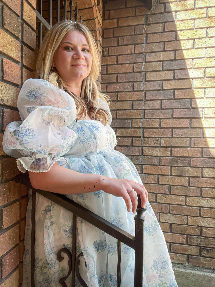 Dallas Dreamhaus crown Katie Kinsley Selkie Puff Sleeve Dress