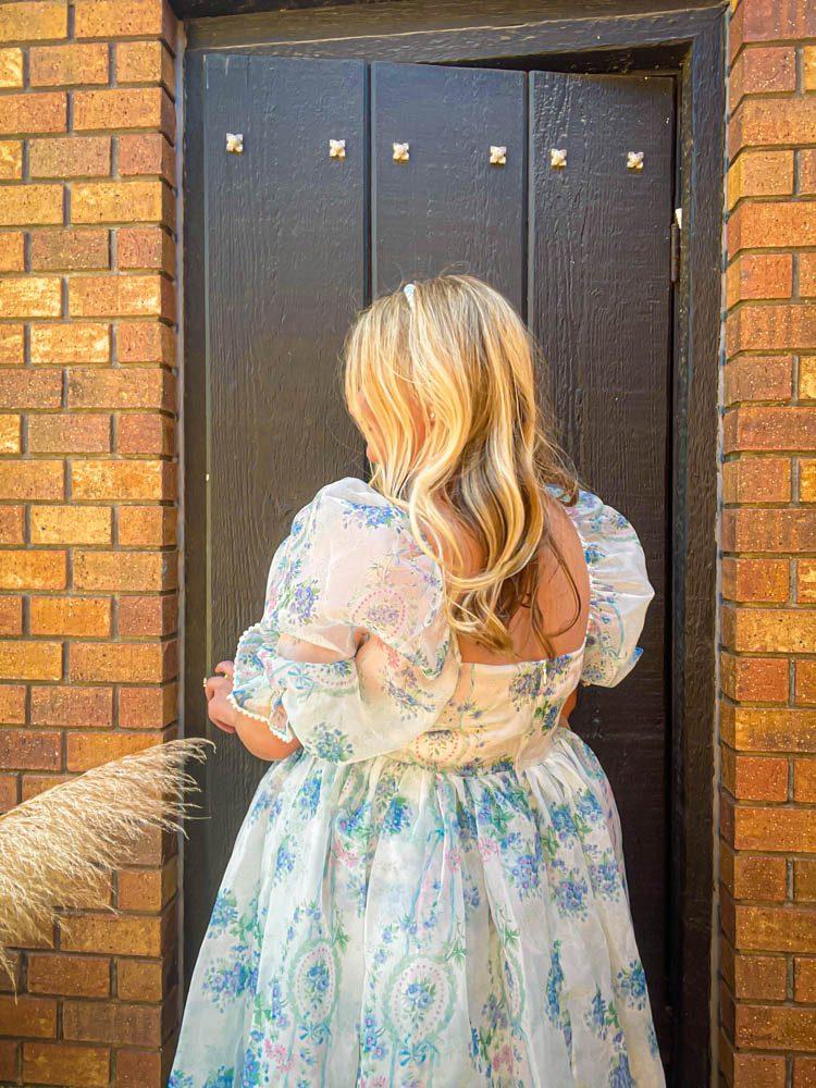 Dallas Dreamhaus black door Katie Kinsley Selkie Puff Sleeve Dress