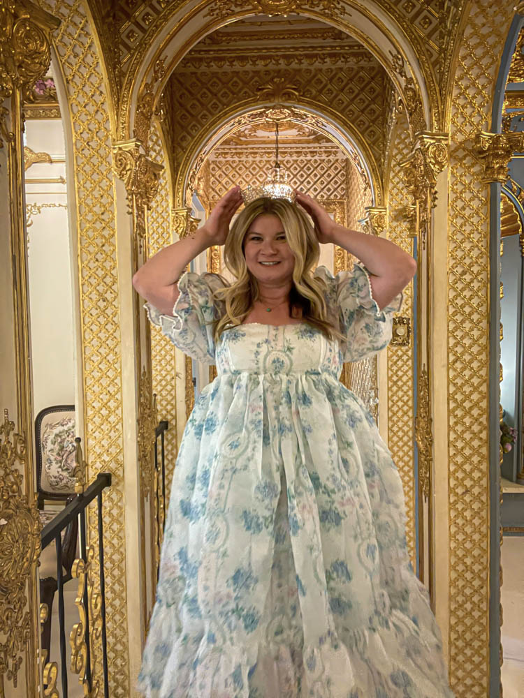 Dallas Dreamhaus brick close Katie Kinsley Selkie Puff Sleeve Dress