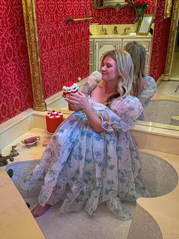 Dallas Dreamhaus cake Katie Kinsley Selkie Puff Sleeve Dress