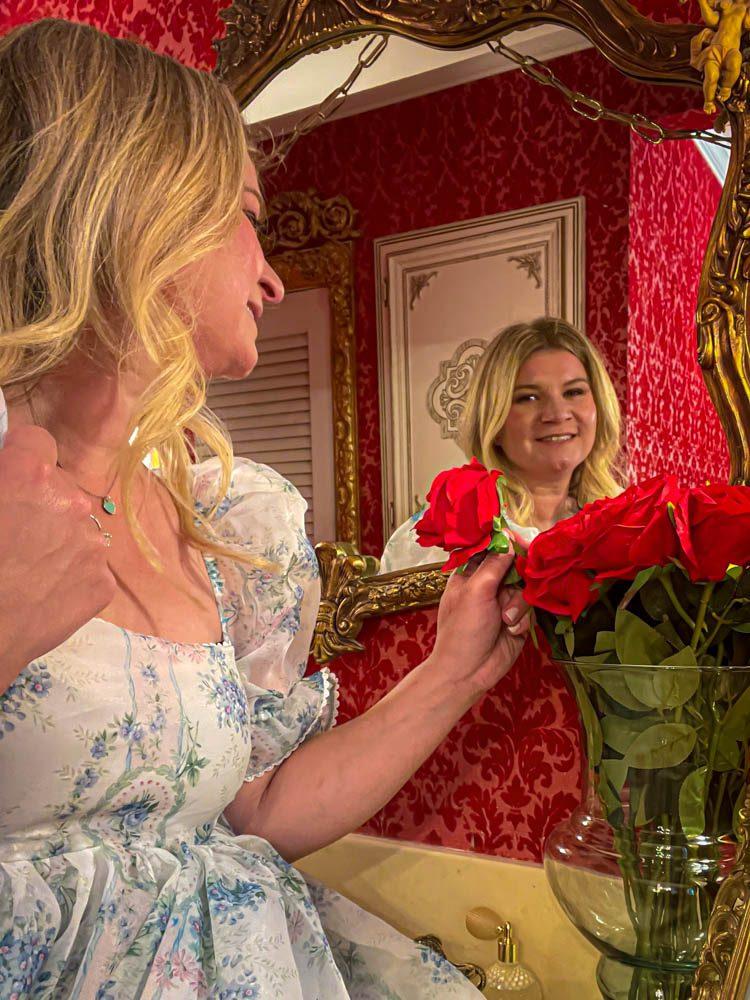Dallas Dreamhaus rose mirror Katie Kinsley Selkie Puff Sleeve Dress