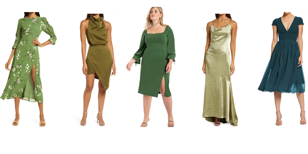 Green Wedding Guest Dresses