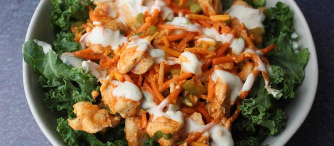 Buffalo Chicken Kale Salads_8292