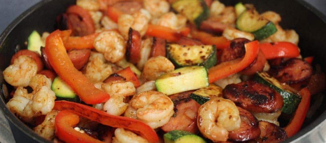 Shrimp and Sausage Skillet_8138